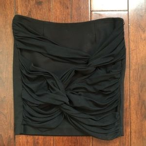 Vivienne Vivienne Tam Black Tulle Front Skirt